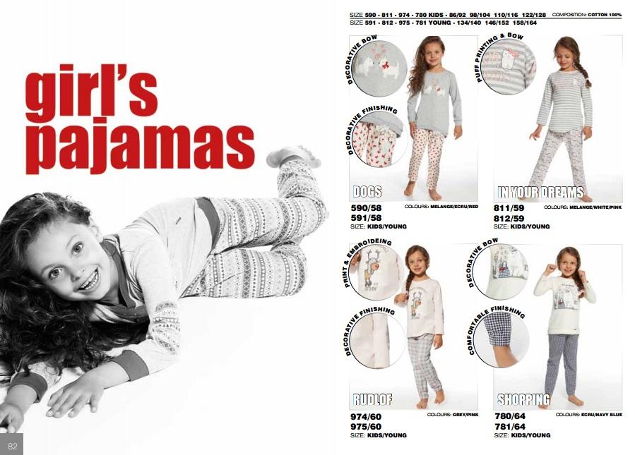 Пижамы для девочек Cornette купить в интернет магазине