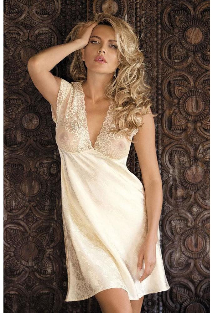 Женские ночные сорочки шелк Mia-Mia