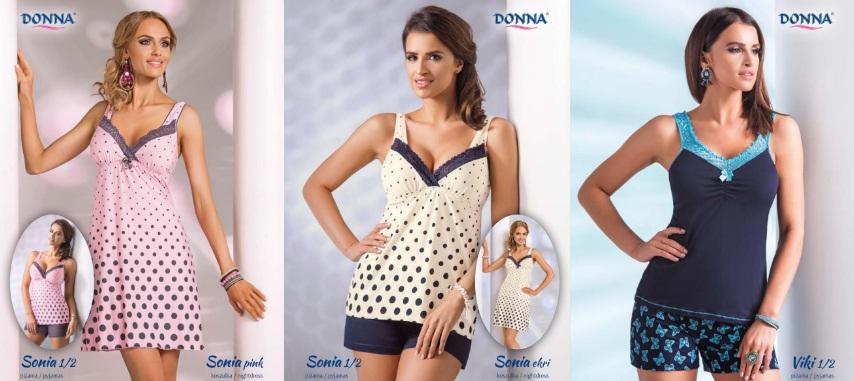Donna женские ночные сорочки и пижамы