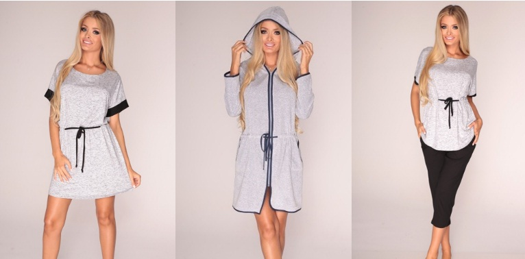 Сорочки пижамы халаты комплекты De Lafense Польша купить