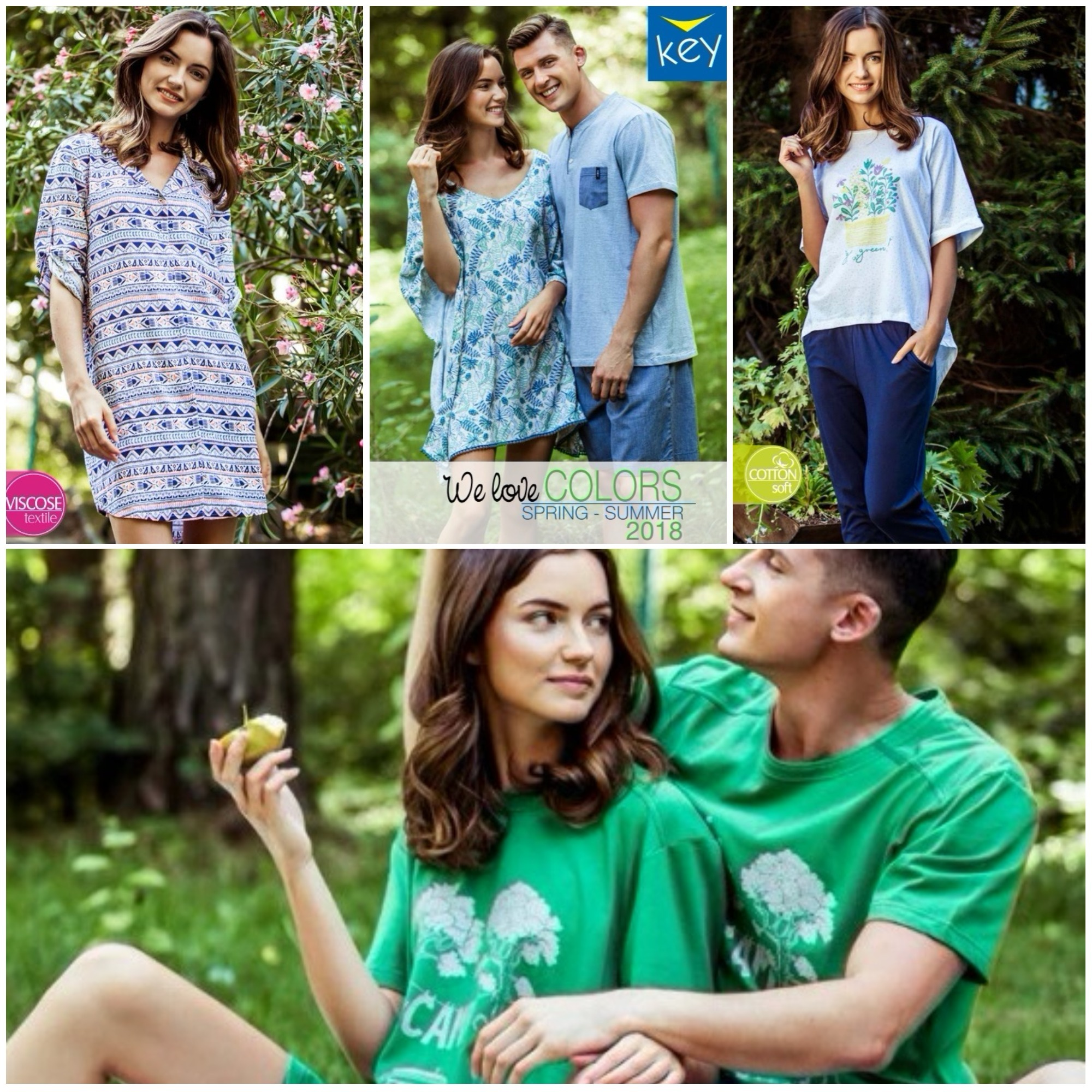 Ночные сорочки пижамы платья туники одежда для дома Key