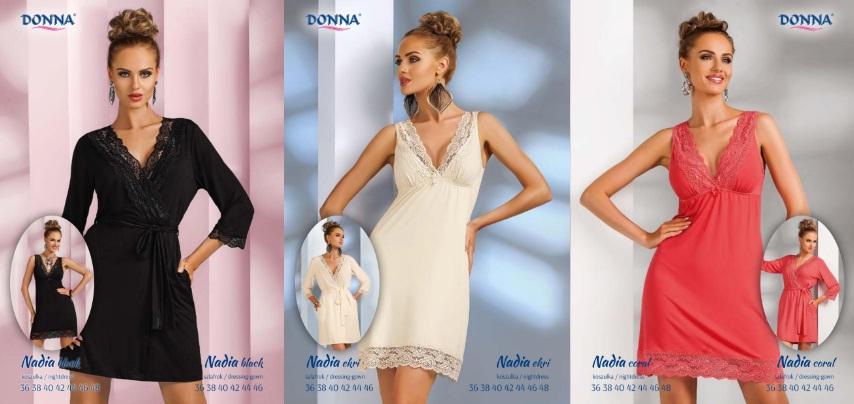 Donna женские ночные сорочки и халаты