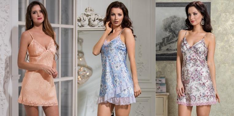 Ночные сорочки шелк атлас купить в интернет магазине Киев