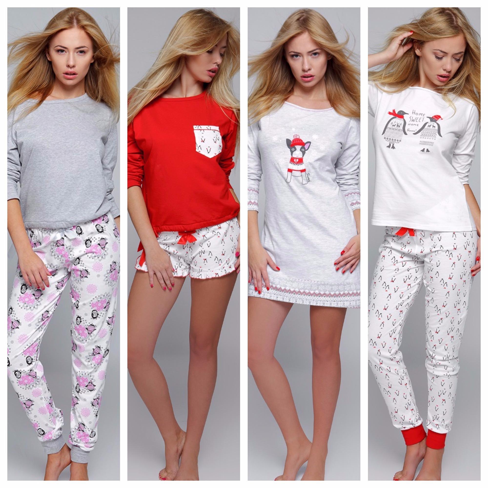 Sensis пижамы сорочки новогодняя коллекция