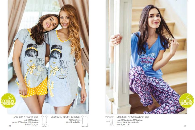 одежда для дома сорочки пижамы халаты kEY Польша хлопок
