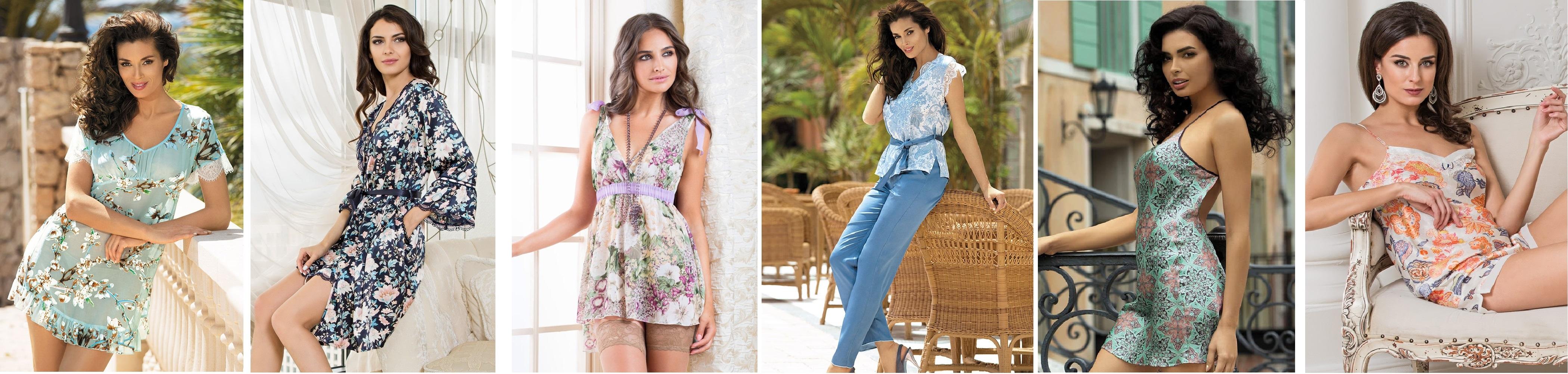 Женские сорочки, пижамы, халаты, комплекты шелк Mia-Mia купить интернет-магазин
