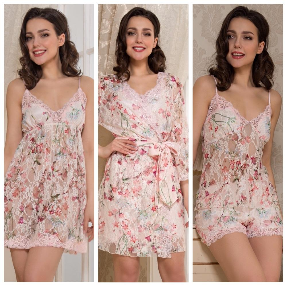 Сорочки пижамы халаты Amely Mia-Mia