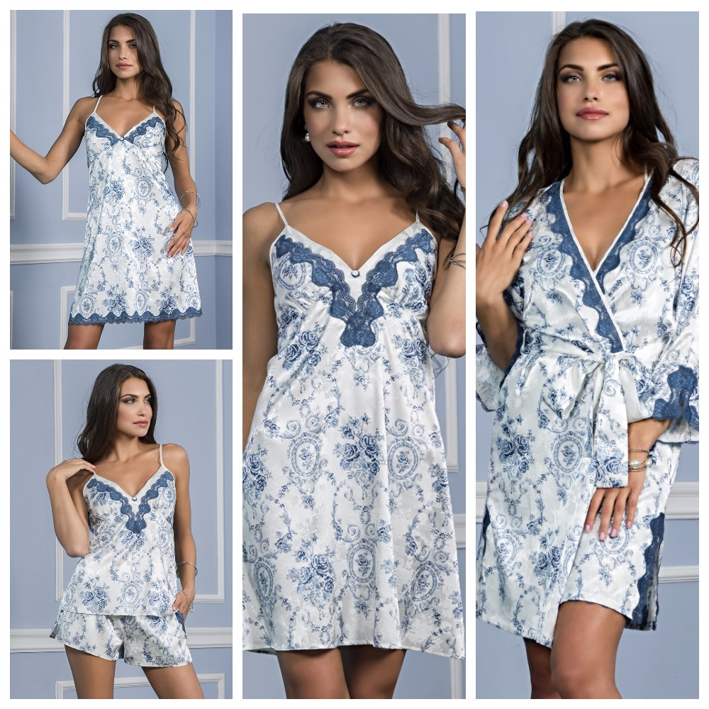 Сорочки комплекты халаты Blue Rose Mia-Mia купить