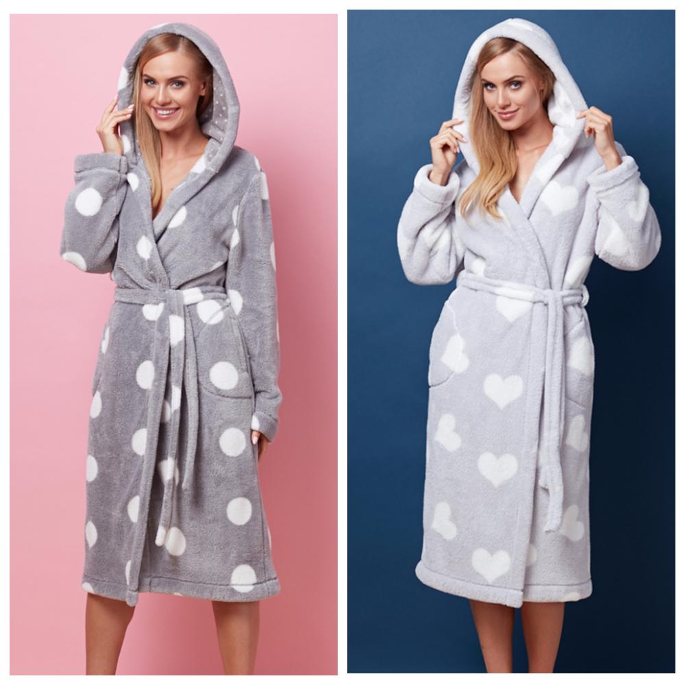 Женские халаты L&L Польша махра хлопок плюш