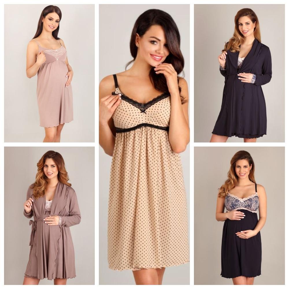 Женские сорочки и халаты для беременных и кормящих LupoLine купить