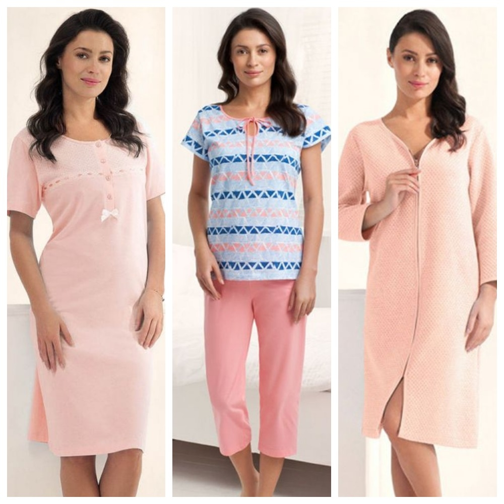 Женские сорочки, пижамы и халаты Luna