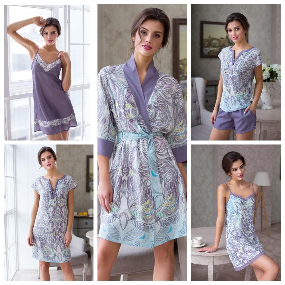 Женские сорочки, пижамы и халаты Mia-Mia