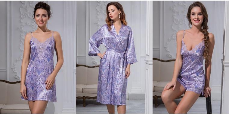 Сорочки пижамы халаты шелк Lavanda Mia-Mia купить Киев