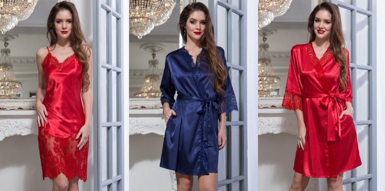 Сорочки пижамы халаты Flamenco Mia-Mia Италия шелк