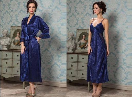 Сорочки пижамы халаты Angelina Mia-Mia Италия шелк