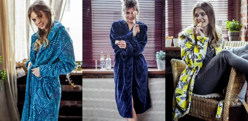 женские халаты плюш Key Польша купить