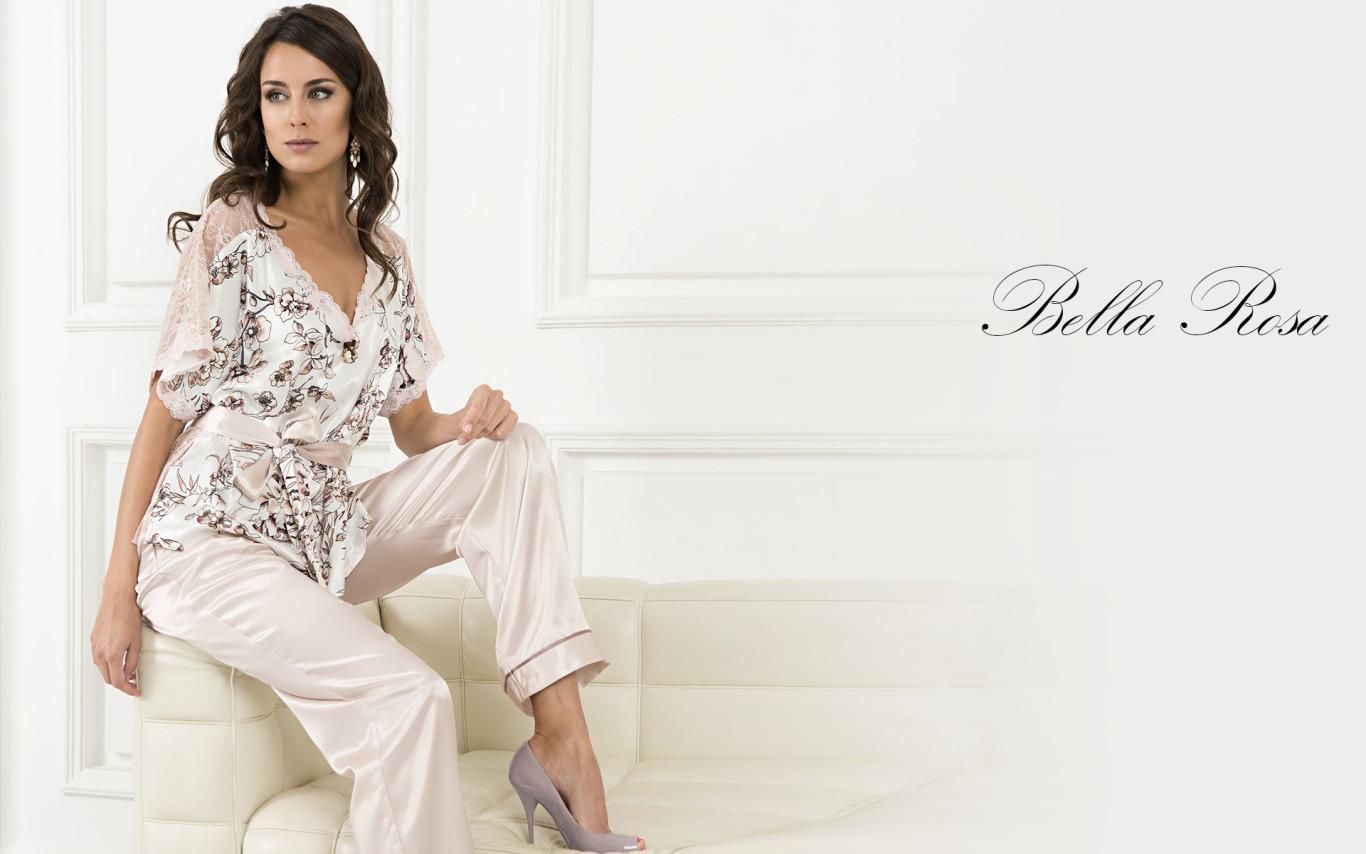 Женская пижама шелк Mia-Mia интернет-магазин купить