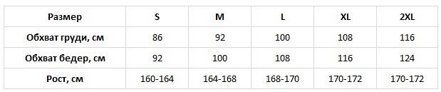 Cana таблица размеров