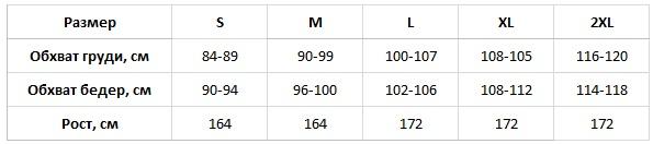 Fabio таблица размеров