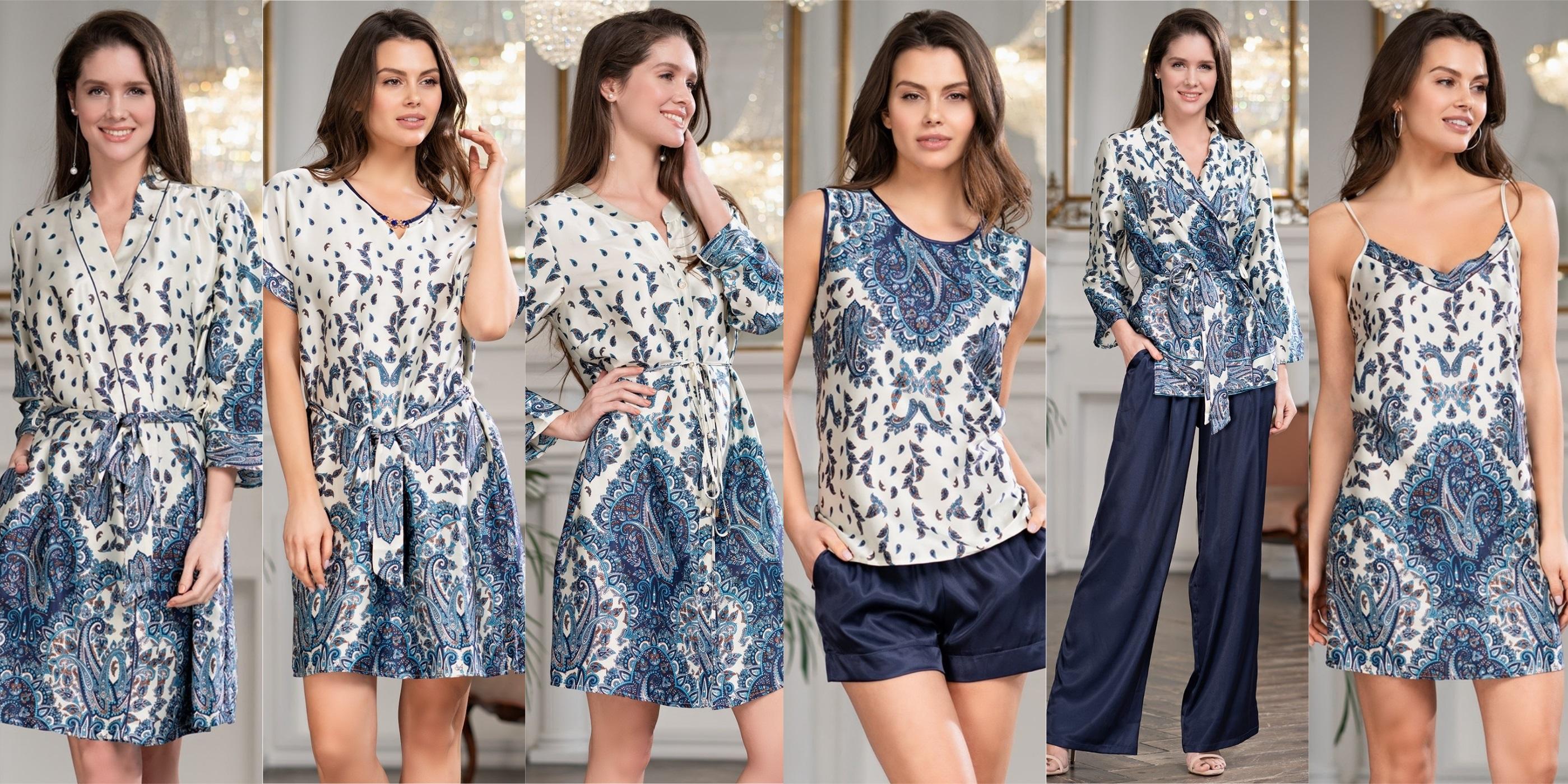 Халат, туники, сорочка, пижамы женские Mia-Mia купить