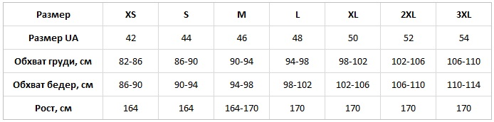 Komilfo таблица размеров
