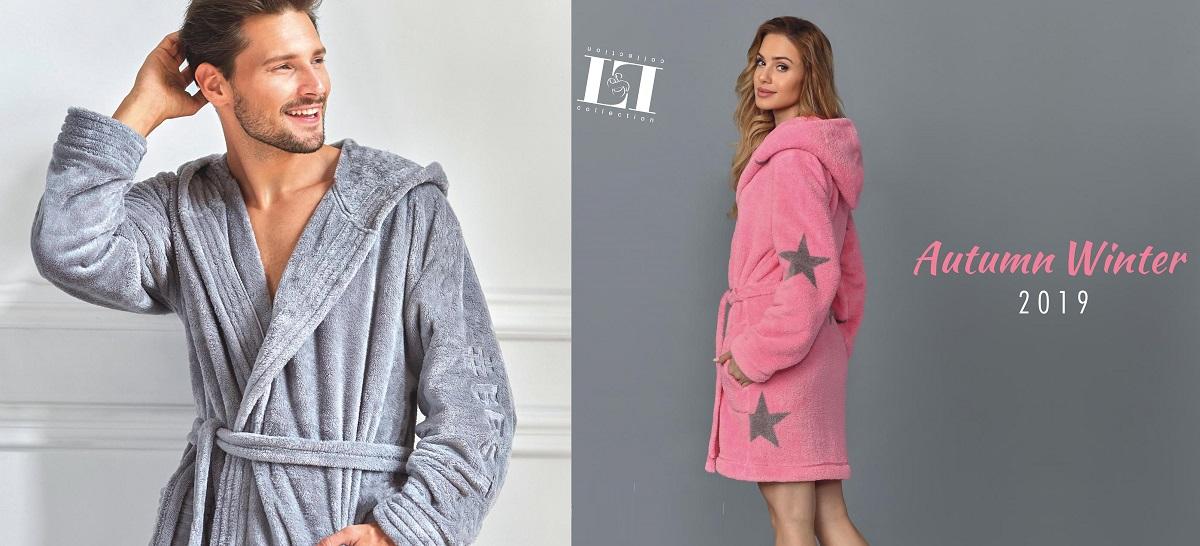 L&L халаты женские мужские плюш купить