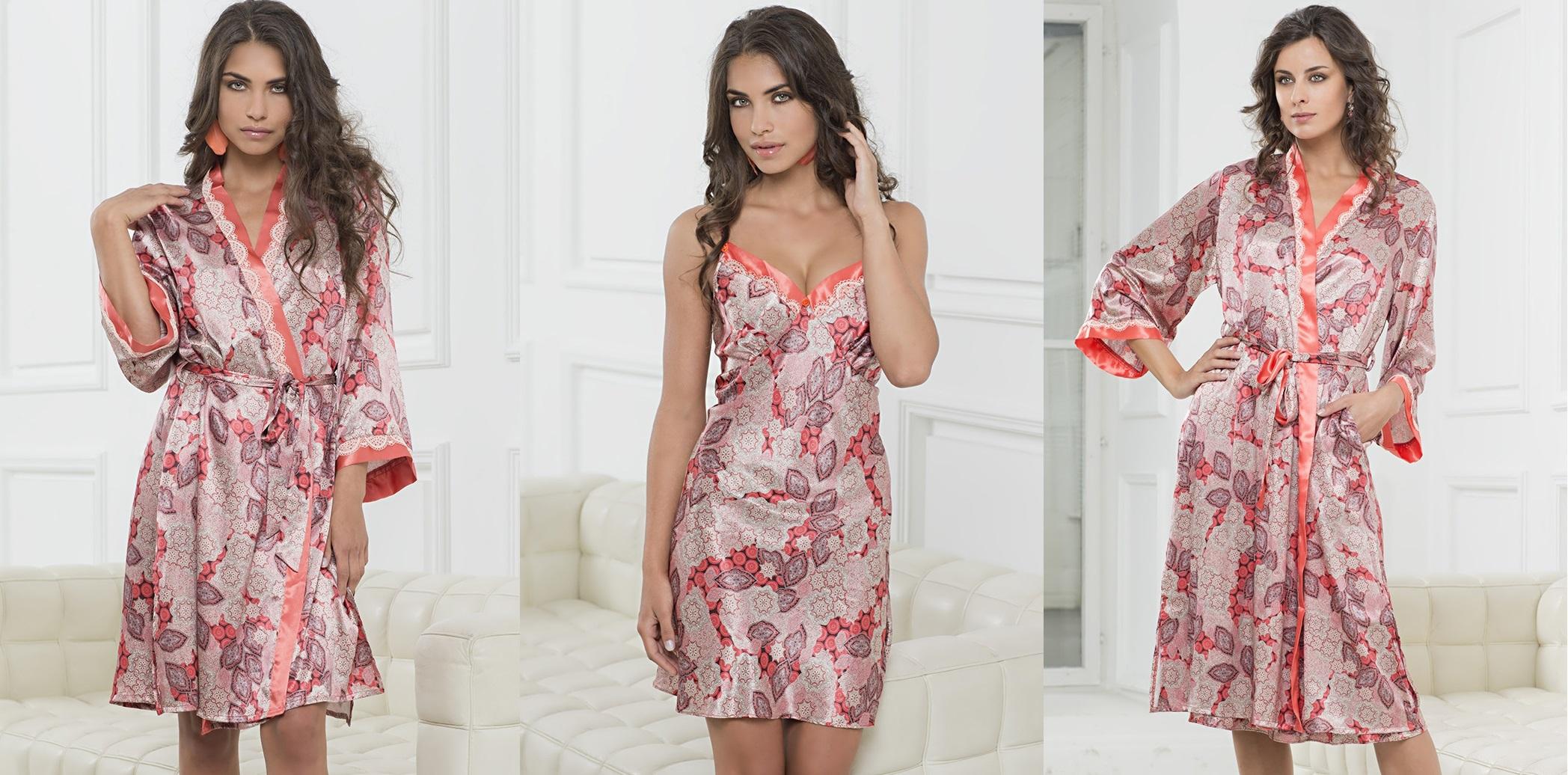 Ночные сорочки халаты шелк Shafran MIA-MIA купить в интернет магазине Киев relish.com.ua