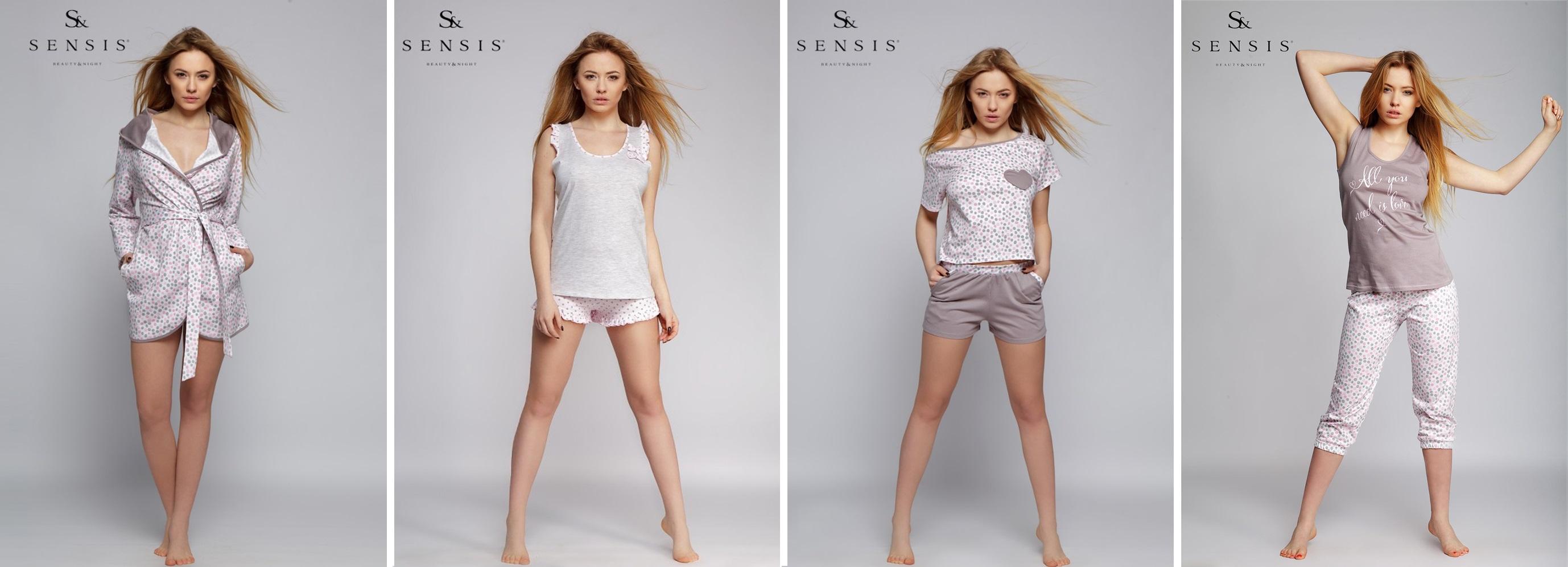 Одежда для дома и сна пижамы халаты сорочки комплекты ТМ Sensis купить интернет-магазин Киев