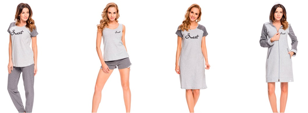 Женская одежда для дома, пижамы, сорочки, халаты хлопок DobraNocka купить интернет-магазин Киев