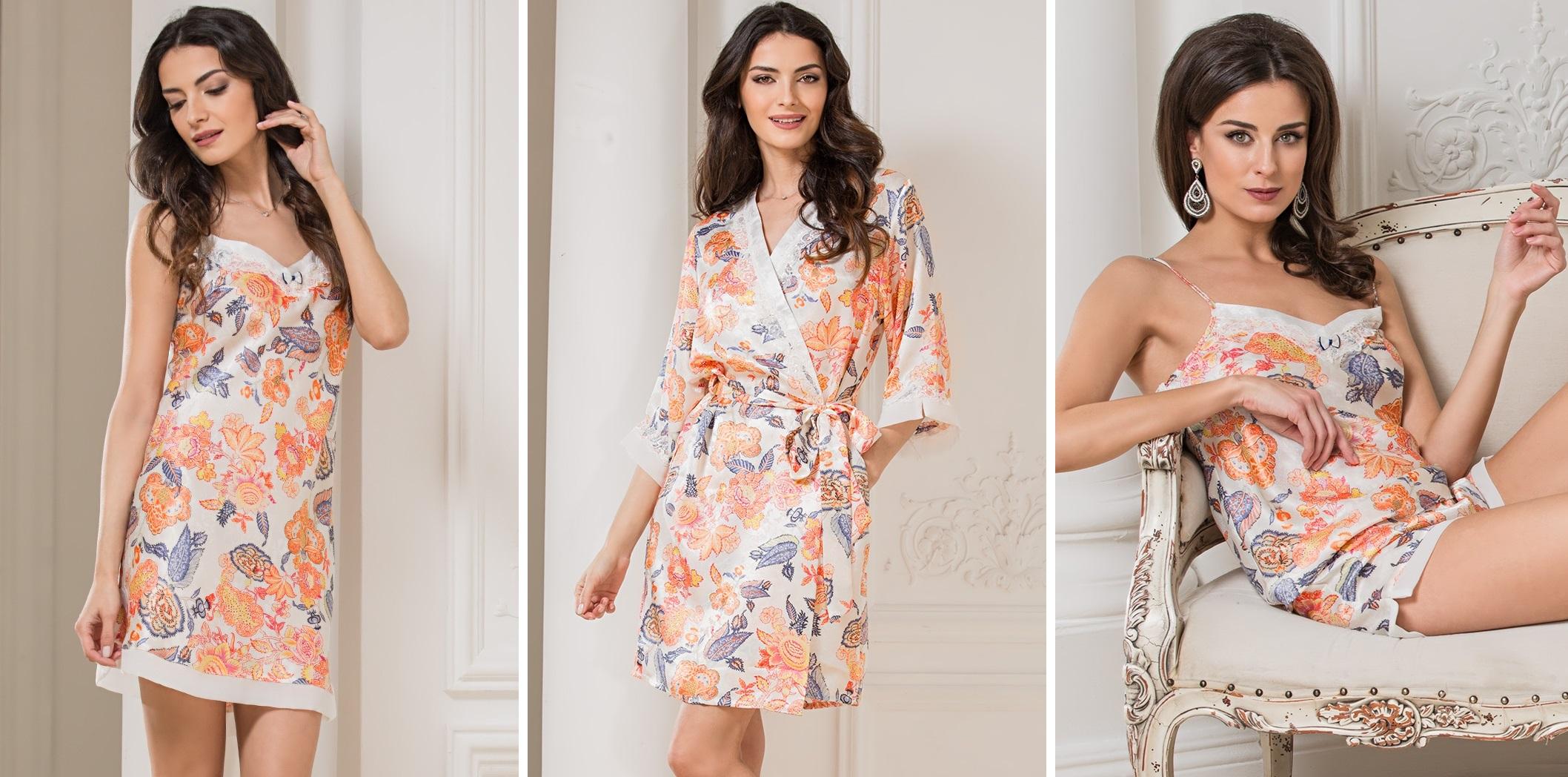 Женские сорочки халаты комплекты ТМ Mia-Mia Ornella купить в интернет-магазине Киев