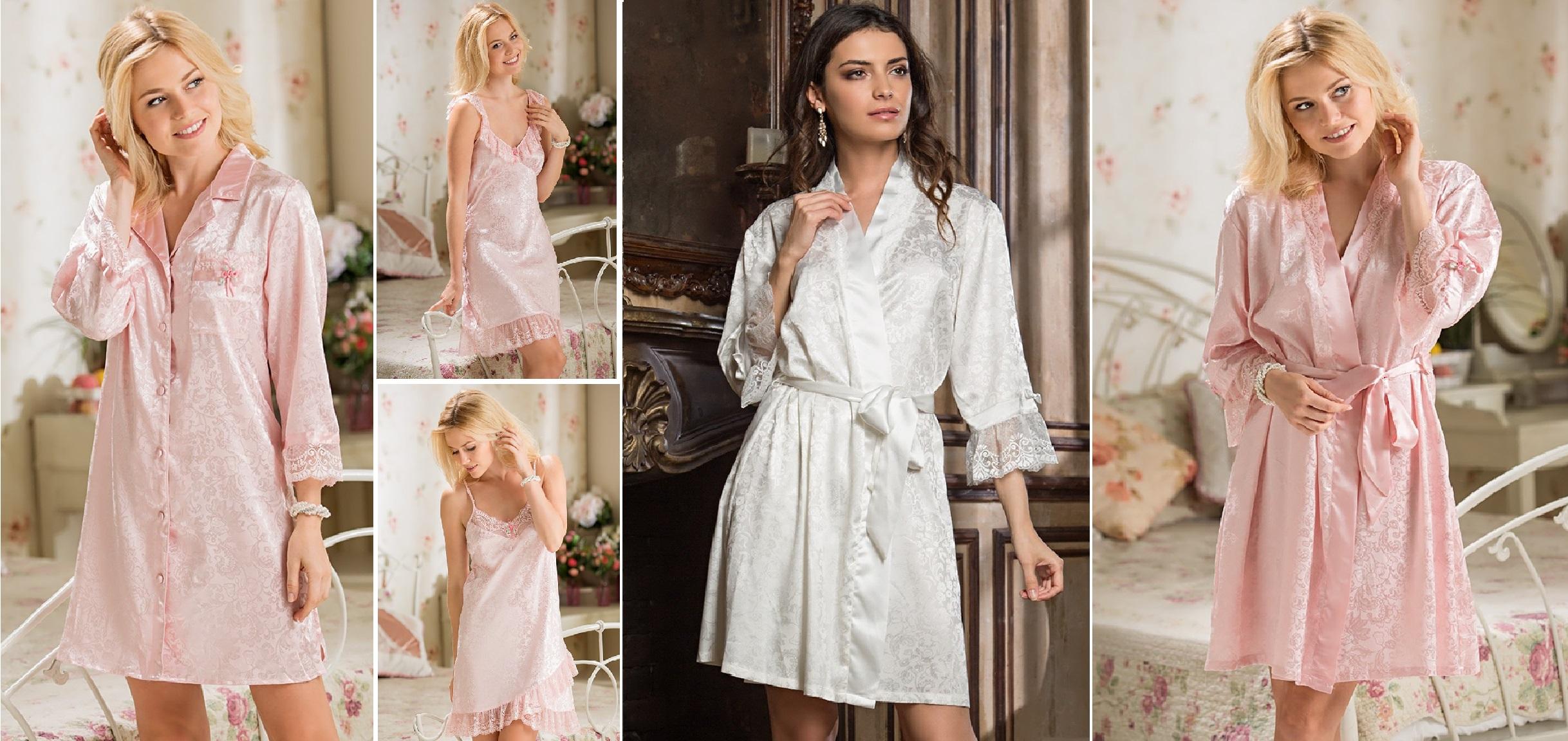 Женские сорочки, халаты, комплекты и пижамы Angelina Mia-Mia купить интернет-магазин
