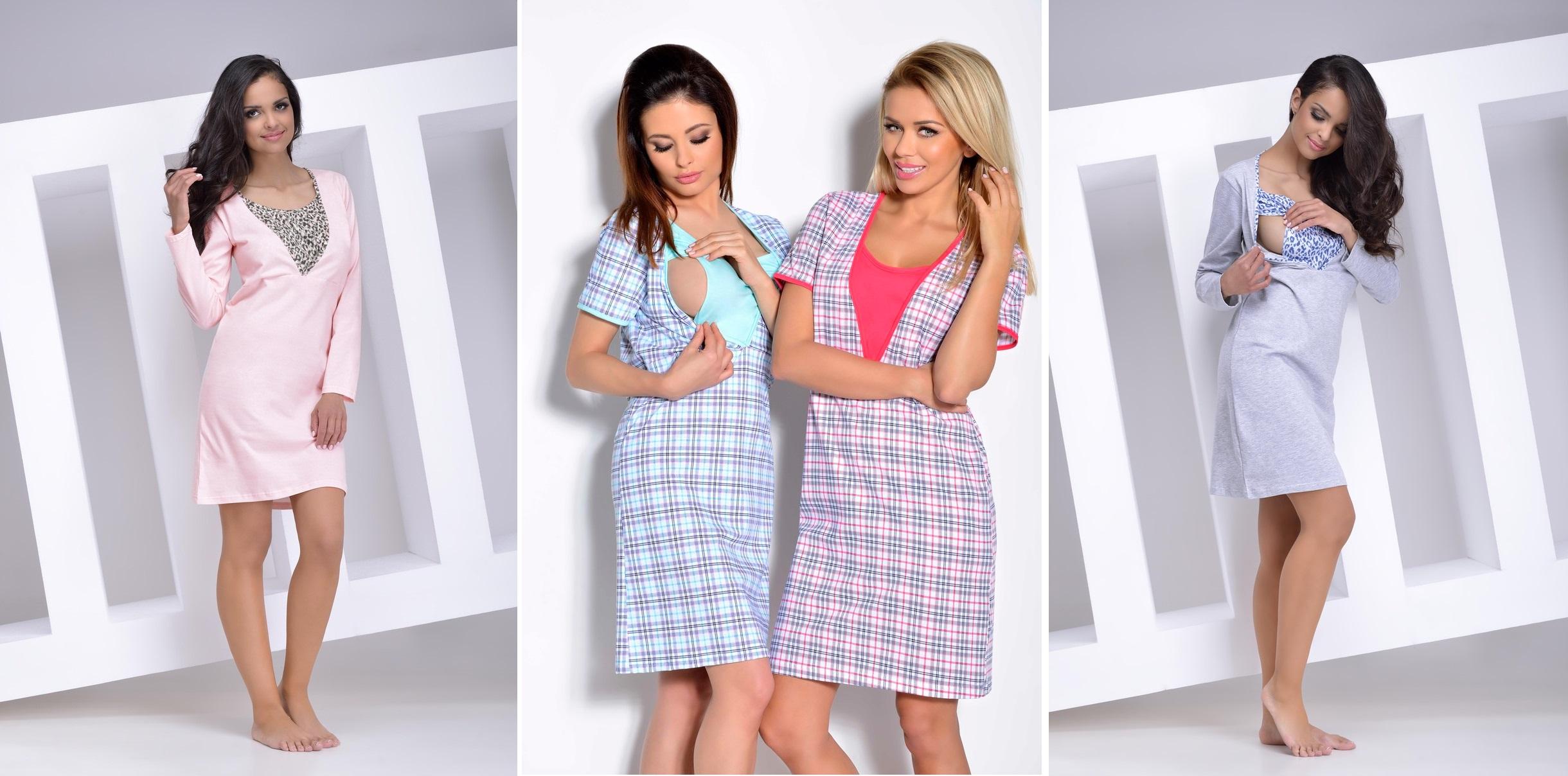 Сорочки для беременных и кормящих мам TARO купить в интернет-магазине Киев