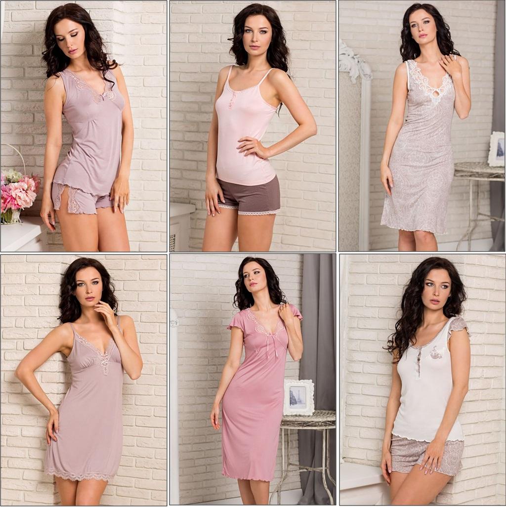 Женские сорочки пижамы комплекты Valeria ТМ Mia-Mia купить интернет-магазин