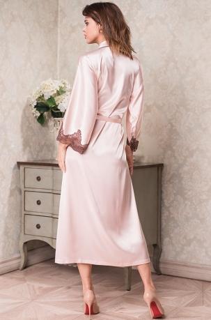 2d089b54dbd17 Халат женский шелковый Mia-Mia Marilin 3109 пудра - интернет-магазин ...