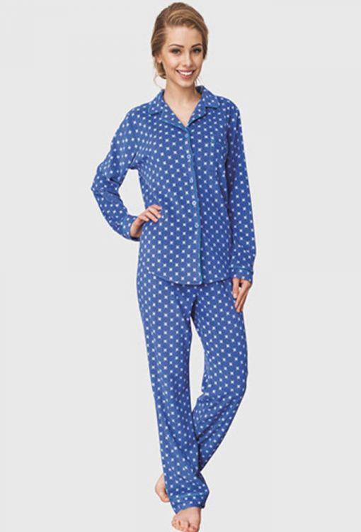 Пижама женская флис Key арт.657 синий - купить в интернет-магазине ... 1cc8744361202