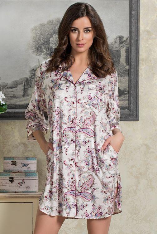 5d026e4d883e18b Ночная рубашка шелк Mia-Mia Paola 9895 купить в интернет магазине ...