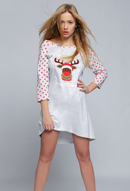 e05fb3199984e Ночная сорочка хлопок Sensis Merry Christmas - купить в интернет ...