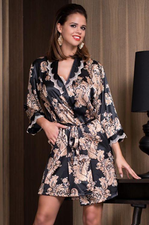 49a475c0a6834 Халат женский шелковый Mia-Mia Golden Flower 3303 купить 3303 ...