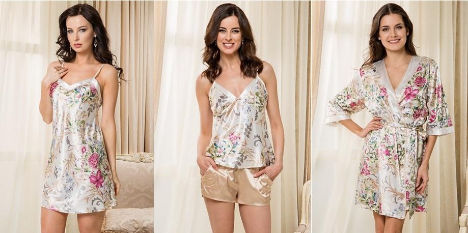 Mia-Mia сорочки пижамы комплекты халаты шелк
