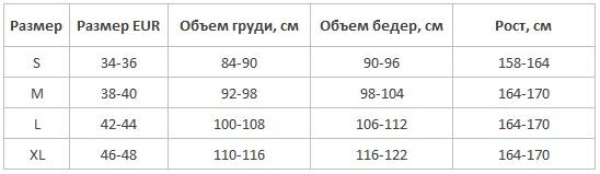 Женские пижамы хлопок Babella Польша таблица размеров - купить интернет магазин Киев