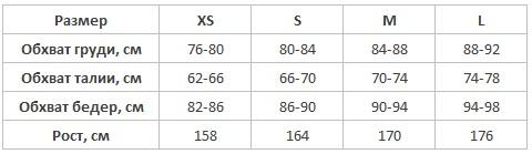 Cornette таблица размеров подростковая