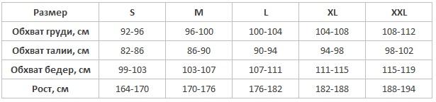 KEY мужские пижамы халаты таблица размеров