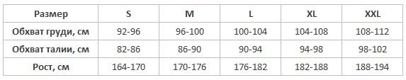 Cornette мужские пижамы таблица размеров