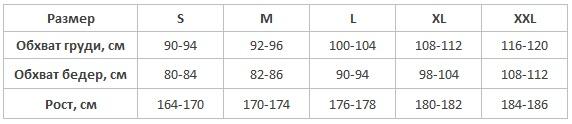 Taro пижамы мужские таблица размеров