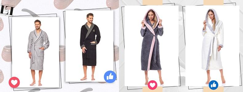 Халаты женские мужские L&L