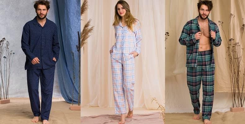 Хлопковые пижамы женские и мужские от польского бренда Key
