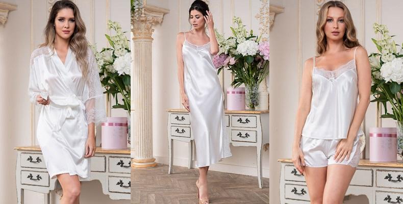 Белоснежная коллекция шелковой одежды для сна от Mia-Mia