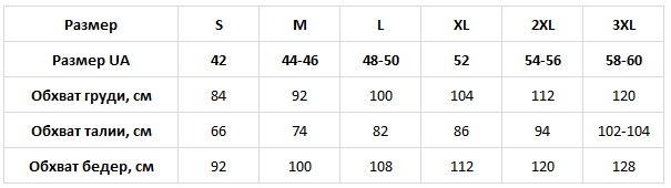 N.EL таблица размеров
