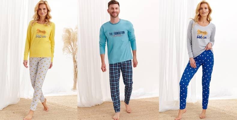 Зимние пижамы женские и мужские от Taro