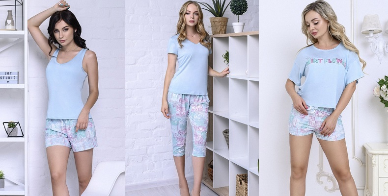 Нежная коллекция женских пижам от Roksana